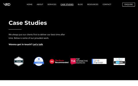Screenshot of Case Studies Page birdmarketing.co.uk - Case Studies - Bird Marketing - captured Feb. 13, 2020