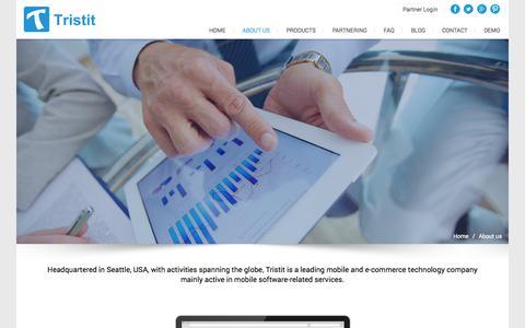 Screenshot of About Page tristit.com - TRISTIT E-Commerce Solutions - captured Oct. 8, 2014