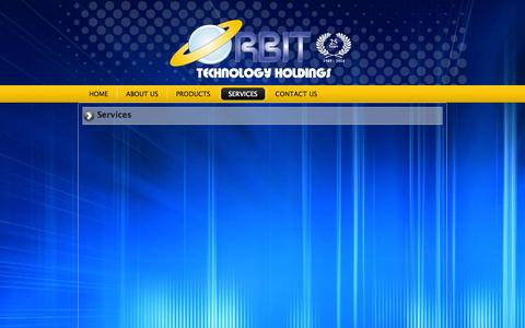 Screenshot of Services Page orbit.com.na - Services   Orbit Technology Holdings - captured Oct. 7, 2014
