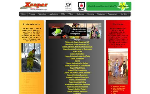 Screenshot of Site Map Page xcaper.com - Welcome to Xcaper Industries - captured Oct. 7, 2014