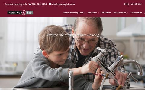 Screenshot of About Page hearinglab.com - A Better Life through Better Hearing | Hearing Lab - captured Sept. 28, 2018