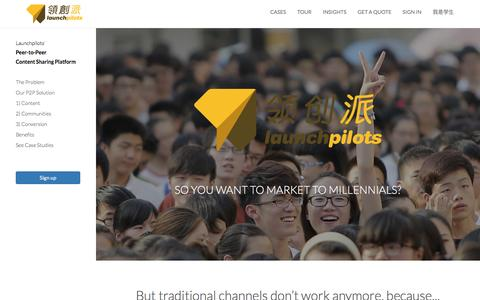 Screenshot of Home Page launchpilots.com - Launchpilots - captured July 3, 2016