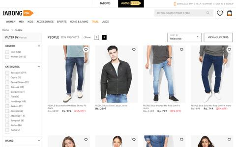 Screenshot of Team Page jabong.com - People - Buy People online in India - Jabong - captured Nov. 18, 2018