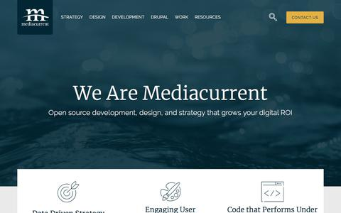 Screenshot of Home Page mediacurrent.com - Development, Design and Strategy Experts | Mediacurrent - captured March 17, 2018
