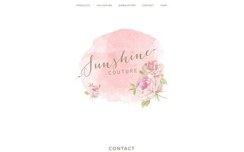 Screenshot of Contact Page shopsunshinecouture.com - Contact / Sunshine Couture - captured Oct. 7, 2014