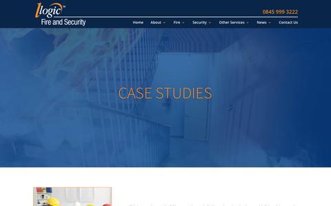 Screenshot of Case Studies Page logicfireandsecurity.com - Case Studies | Logic Fire and Security - captured July 22, 2018