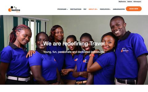 Screenshot of About Page electiveafrica.com - Elective Africa - captured July 12, 2016