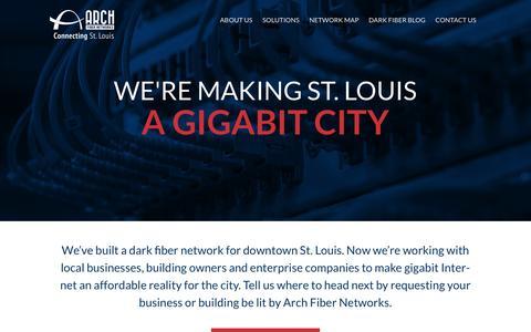 Screenshot of Home Page archfibernetworks.com - St. Louis Dark Fiber | Arch Fiber Networks - captured May 30, 2017