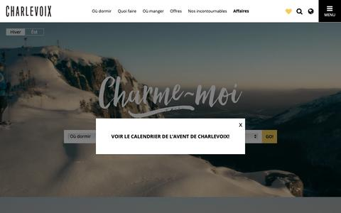 Screenshot of Home Page tourisme-charlevoix.com - Tourisme Charlevoix - captured Nov. 27, 2018