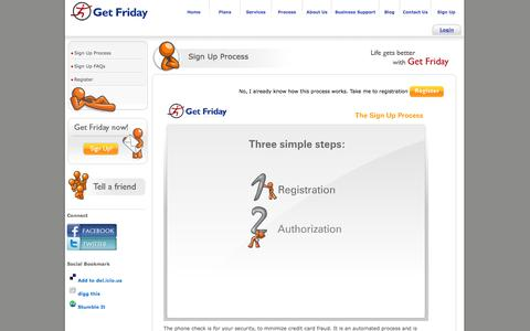 Screenshot of Signup Page getfriday.com - GetFriday - Life gets better with GetFriday - captured Sept. 23, 2014