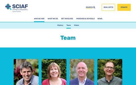 Screenshot of Team Page sciaf.org.uk - Our Team | Who We Are | SCIAF - captured April 21, 2018