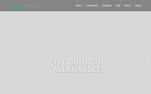 Screenshot of Home Page citychurchtallahassee.com - City Church Tallahassee - captured July 18, 2018