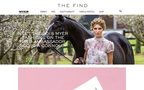Screenshot of Blog myer.com.au - The Myer Blog - captured Oct. 1, 2015