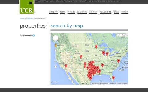 Screenshot of Maps & Directions Page ucr.com - Search by Map | United Commercial Realty | United Commercial Realty - captured Oct. 3, 2014