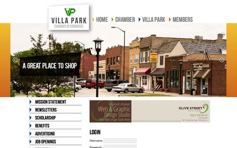 Screenshot of Login Page villaparkchamber.org - Login - Villa Park Chamber | Villa Park - captured Oct. 26, 2014