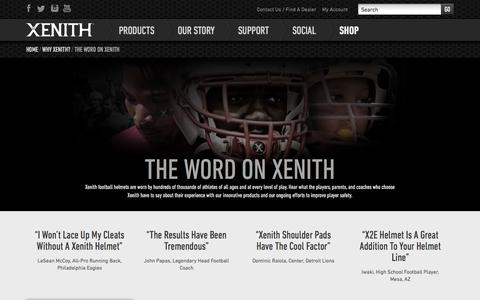 Screenshot of Testimonials Page xenith.com - Xenith Reviews & Testimonials - captured Sept. 17, 2014