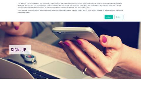 Screenshot of Signup Page protominternational.com - Sign-Up   ProTom International - captured July 23, 2018