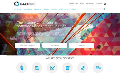 Screenshot of Home Page blackducksoftware.com - Black Duck - captured July 12, 2014