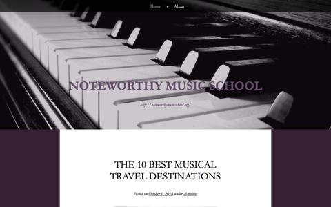 Screenshot of Blog wordpress.com - Noteworthy Music School | http://noteworthymusicschool.org/ - captured Oct. 26, 2014