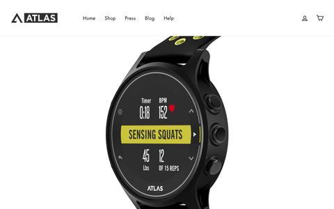 Screenshot of Home Page atlaswearables.com - Atlas Wearables | Atlas Shape & Wristband 2 Fitness Tracker - captured May 19, 2019