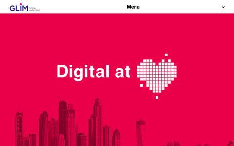 Screenshot of Home Page glimdm.com - Branding & Advertising Agency Dubai | GLIM - captured Jan. 23, 2015