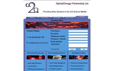 Screenshot of Contact Page a2opartnership.com - Contact A2O - captured Feb. 5, 2016