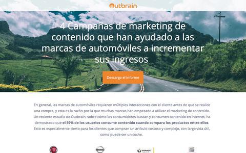 Screenshot of Landing Page outbrain.com - ¿Cómo el Discovery ayuda las marcas de automóviles a incrementar sus ingresos? - captured March 2, 2018