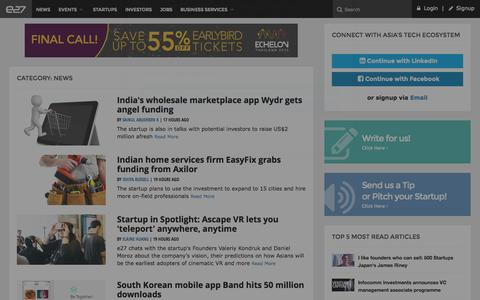 Screenshot of Press Page e27.co - e27 - Connecting you to Asia's Startup Ecosystem - captured Oct. 1, 2015