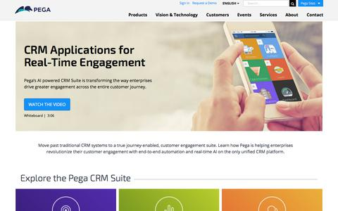 CRM Applications for Real-Time Customer Engagement | Pega