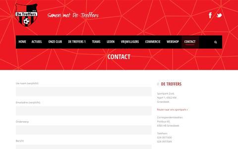 Screenshot of Contact Page detreffers.nl - CONTACT - De Treffers - captured Sept. 21, 2018