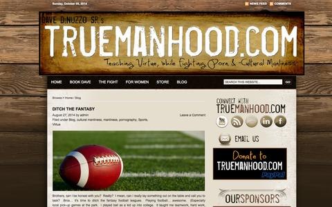 Screenshot of Blog truemanhood.com - TrueManhood Blog | TrueManhood.com - captured Oct. 5, 2014