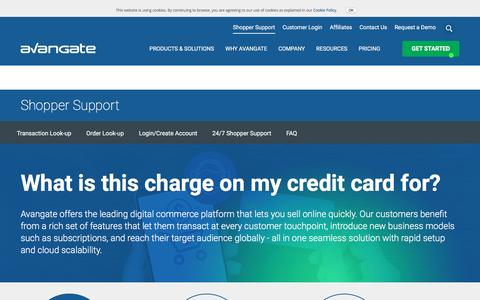 Screenshot of Support Page avangate.com - Customer support related to the order, payment or software delivery | Avangate - captured Sept. 30, 2016