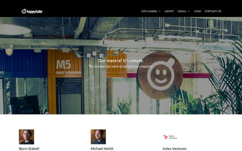 Screenshot of About Page happylatte.com - ABOUT | Happylatte - captured Dec. 7, 2015