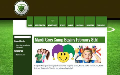 Screenshot of Press Page playmakersindoor.com - News | Playmakers Indoor | Indoor Sports New OrleansPlaymakers Indoor | Indoor Sports New Orleans - captured Jan. 29, 2016