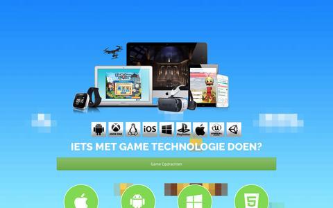 Screenshot of Home Page gamesmaken.com - Games maken – Creative and Applied Technology - captured Oct. 21, 2016
