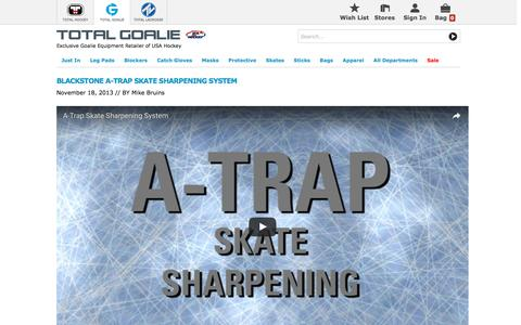 Screenshot of Support Page totalhockey.com - A-Trap Review | Total Goalie - captured Dec. 14, 2016