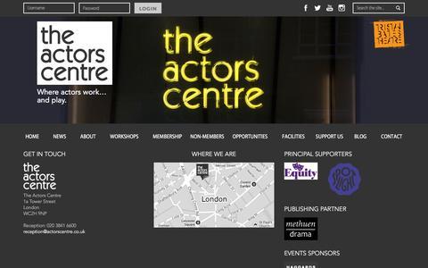Screenshot of Site Map Page actorscentre.co.uk - Site Map | The Actors Centre - captured July 24, 2016