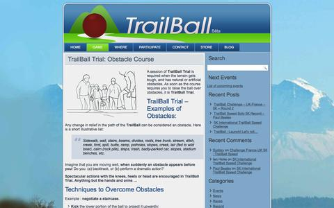 Screenshot of Trial Page trailball.net - TrailBall Trial: Obstacle Course Urban Nature Cross - captured July 7, 2016