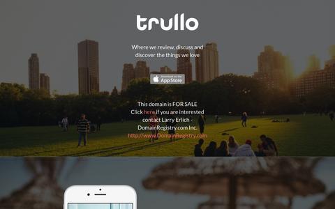 Screenshot of Home Page trullo.com - Trullo - captured March 2, 2016