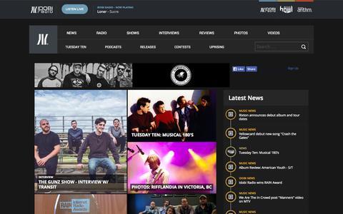Screenshot of Home Page idobi.com - Alternative Pop-Punk Internet Radio, Music News, Videos | idobi - captured Sept. 24, 2014