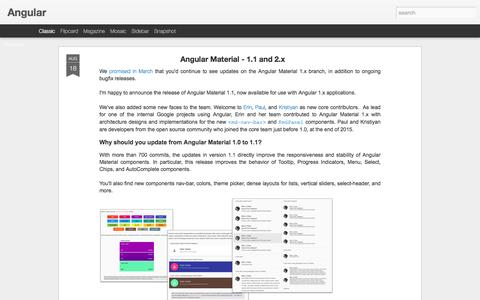 Screenshot of Blog angularjs.org - Angular - captured Aug. 19, 2016