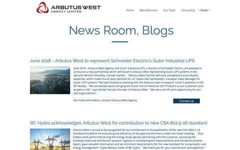 Screenshot of Press Page arbutuswest.com - Arbutus West Agency   News - captured Oct. 4, 2018