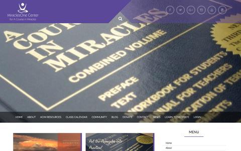Screenshot of Blog miraclesone.org - MiraclesOne Blog - - captured Oct. 20, 2017