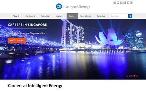 Screenshot of Jobs Page intelligent-energy.com - Careers | Intelligent Energy - captured Dec. 13, 2015
