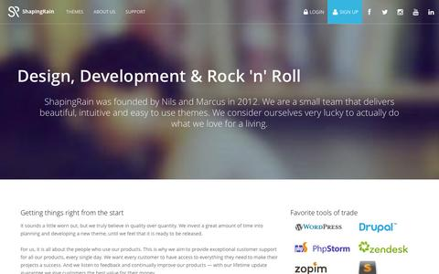 Screenshot of About Page shapingrain.com - ShapingRain.com About us - ShapingRain.com - captured Jan. 12, 2016