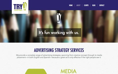 Screenshot of Services Page tryjadvertising.com - Services | Try J Advertising - captured Oct. 9, 2014