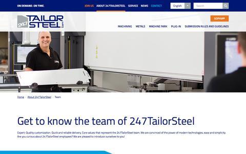 Screenshot of Team Page 247tailorsteel.com - Team - 247TailorSteel - captured Sept. 20, 2018