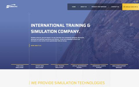 Screenshot of Home Page simultec.eu - Simultec - captured Sept. 21, 2018