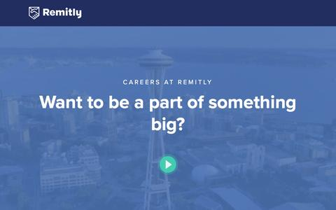 Screenshot of Jobs Page remitly.com - Careers at Remitly - captured Dec. 24, 2016
