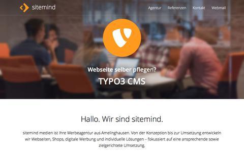 Screenshot of Home Page sitemind.de - sitemind medien Agentur - captured June 27, 2018
